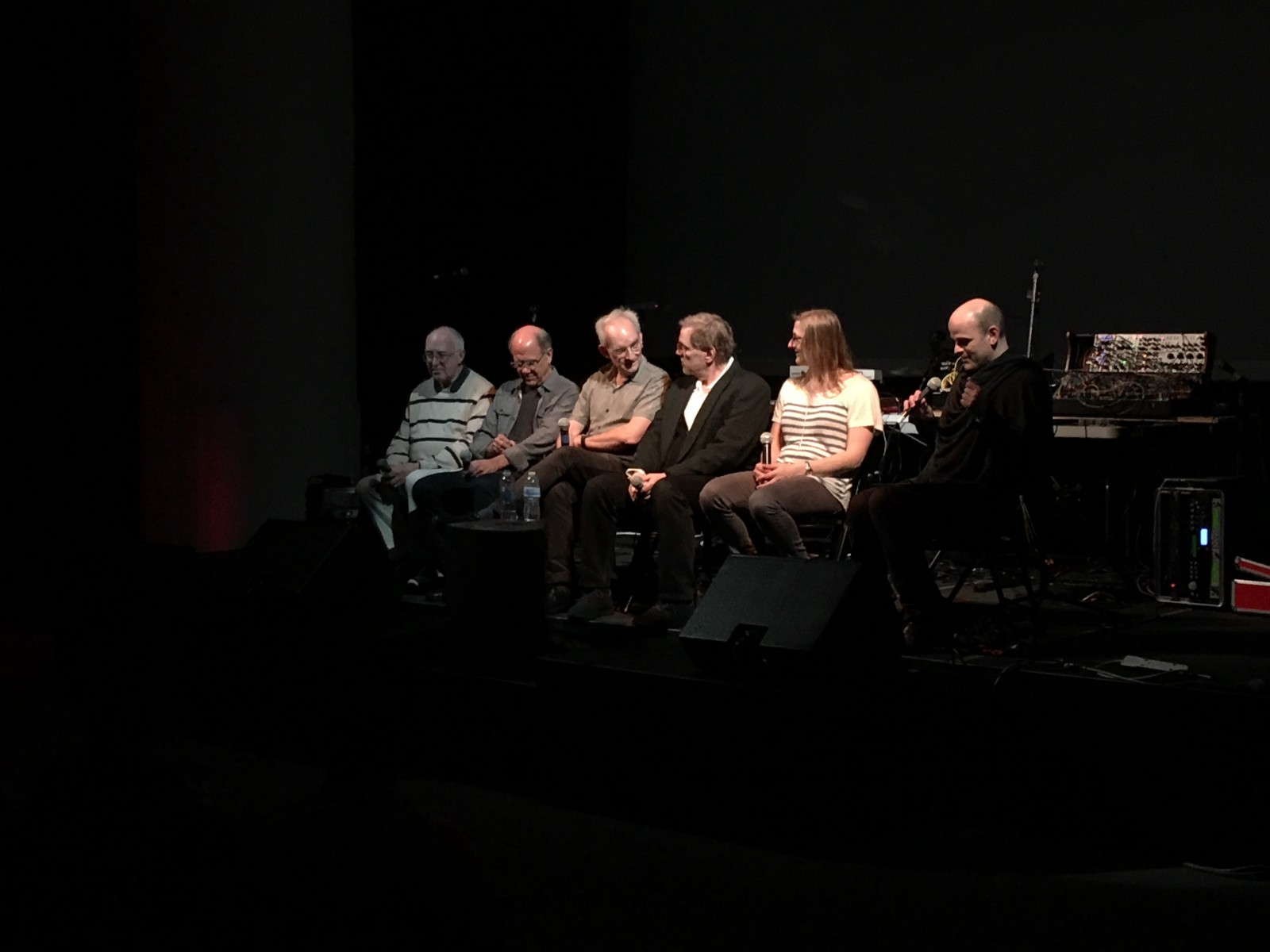 Tom Oberheim, Dave Smith, Roger Linn, Keith McMillen, Jessica Rylan, Peter Apfelbaum at the Buchla memorial festival