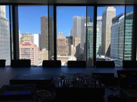 My modular synthesizer and the San Francisco skyline